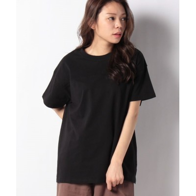 (GeeRA/ジーラ)綿100%フットボールTシャツ/レディース ブラック