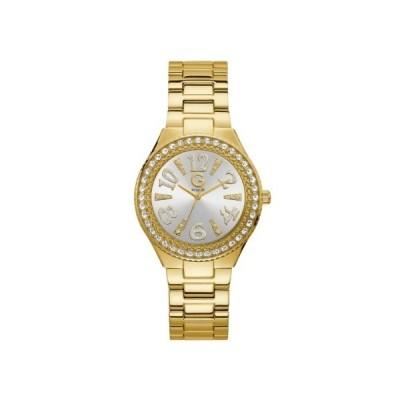 ゲス レディース用腕時計 GBG GUESS GOLD-TONE RHINESTONE WATCH G11945L1