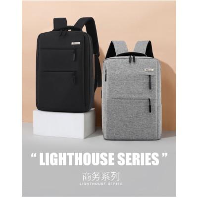 大容量 リュック バッグ ビジネス バック パック メンズ レディース リュックサック 【USBポート付き】 人間工学 シンプル デザイン 通勤用 出張 旅行 仕事/休日で両用