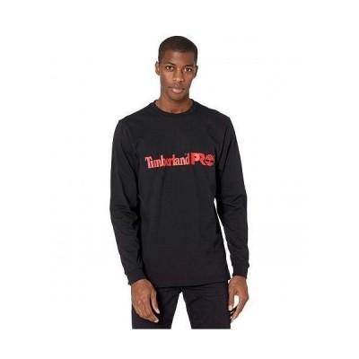 Timberland PRO ティンバーランド メンズ 男性用 ファッション Tシャツ Base Plate Long Sleeve Graphic T-Shirt - Black/Red