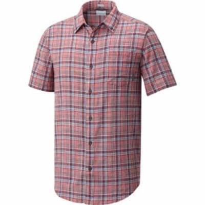 コロンビア 半袖シャツ Columbia Under Exposure Short Sleeve Shirt Red Spark Plaid