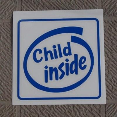 オリジナルステッカー Child inside ブルー ST-1037