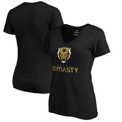 レディース スポーツリーグ Eスポーツ Seoul Dynasty Fanatics Branded Women's Team Identity T-Shirt - Black