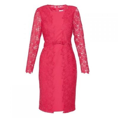 ジーナ バッコーニ Gina Bacconi レディース ワンピース ワンピース・ドレス Summer Lace And Crepe Dress Fuchsia