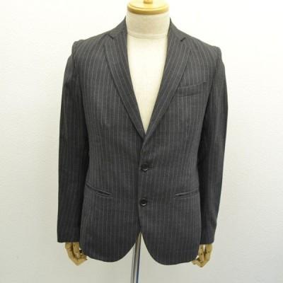 EDIFICE / エディフィス  テーラードジャケット/ストライプ/グレー/サイズ38/オシャレ/男前/紳士 メンズファッション 中古