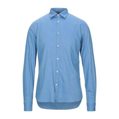 アリーニ AGLINI シャツ アジュールブルー 38 コットン 98% / ポリウレタン 2% シャツ