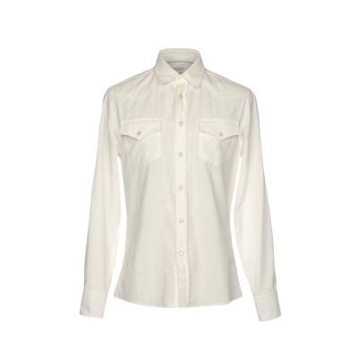 ブルネロ クチネリ BRUNELLO CUCINELLI シャツ ホワイト S 100% コットン シャツ