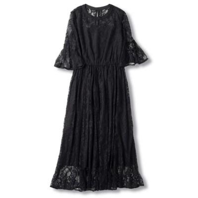 (WILLSELECTION/ウィルセレクション)シャンティレースギャザードレス/レディース ブラック