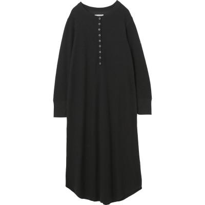 WAFFLE HENLEY DRESS