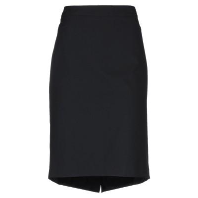 CALALUNA ひざ丈スカート ブラック 50 ナイロン 88% / ポリウレタン 12% ひざ丈スカート