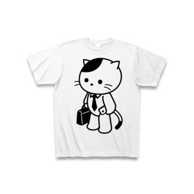 サラリーマン猫 Tシャツ(ホワイト)