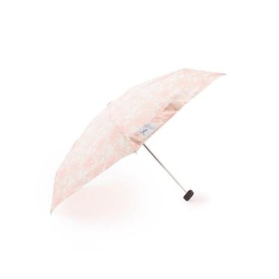 グローブ grove Wpc.フラワー折り畳み傘 (ベビーピンク)