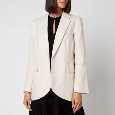 ホイッスルズ Whistles レディース スーツ・ジャケット アウター Oversized Linen Blazer - Beige Beige