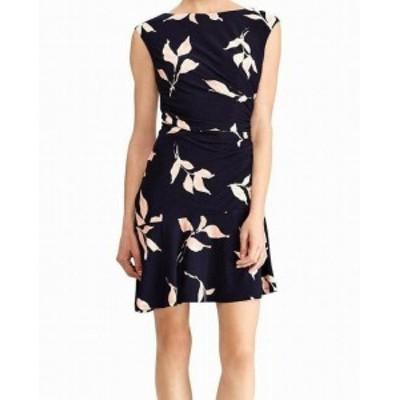 American  ファッション ドレス American Living Womens Dress Pink Blue Size 12 Sheath Floral Print