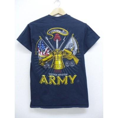S/古着 Tシャツ ミリタリー アーミー ARMY 黒 ブラック 19apr24 中古 メンズ 半袖