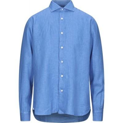 バルバ BARBA Napoli メンズ シャツ トップス Linen Shirt Bright blue