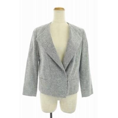 【中古】トゥモローランドコレクション TOMORROWLAND collection 17SS フックジャケット 36 白 黒 レディース