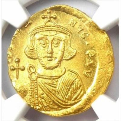 アンティークコイン Byzantine Justinian II AV Solidus Gold Coin 685-695 AD