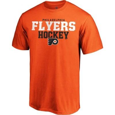 ファナティクス Fanatics メンズ Tシャツ トップス NHL Philadelphia Flyers Iconic Orange T-Shirt