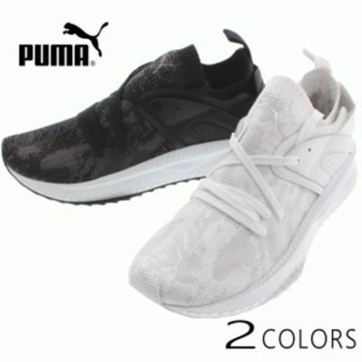 プーマ PUMA スニーカー ツギ ブレイズ エヴォニット WF 365498 プーマホワイト/グレーバイオレット(01) ブラック/クワイエットシェード(