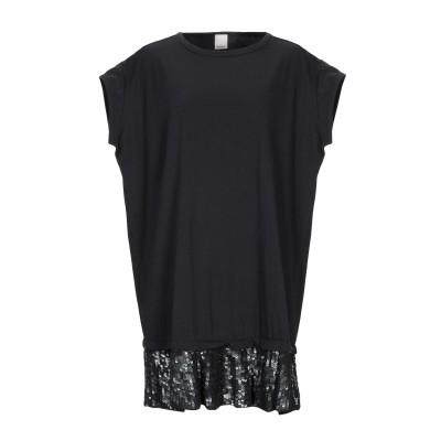 ピンコ PINKO ミニワンピース&ドレス ブラック S コットン 100% / ポリエステル ミニワンピース&ドレス
