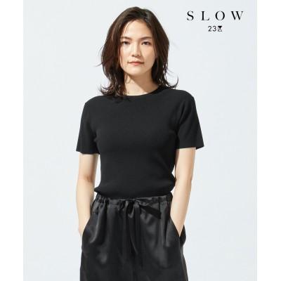 【SLOW】コンフォートストレッチ ニットプルオーバー
