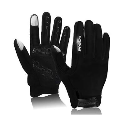 F-TUBAME 手袋 防寒 グローブ サイクルグローブ 3D 立体 自転車グローブ サイクリンググローブ 衝撃吸収パット ス