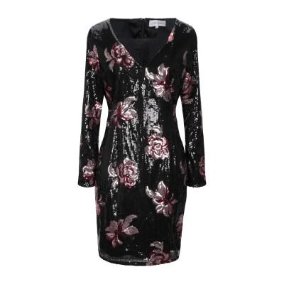 VITTORIA ROMANO ミニワンピース&ドレス ブラック 48 ポリエステル 100% ミニワンピース&ドレス