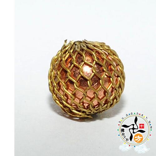 紅銅網珠1.1公分 配件1個十方佛教文物