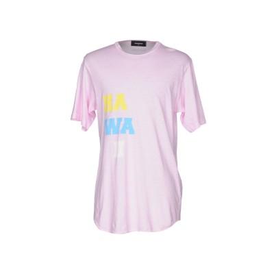 ディースクエアード DSQUARED2 T シャツ ピンク XS コットン 70% / 麻 30% T シャツ