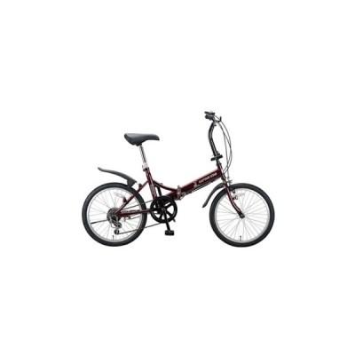 折りたたみ自転車 キャプテンスタッグ フォークFDB206 20インチ ダークレッド