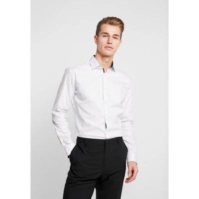 セレクテッドオム シャツ メンズ トップス SLHSLIMNEW MARK - Formal shirt - white/light blue