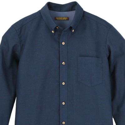 着物シャツ アロハシャツ XLサイズ メンズ 紬 着物アロハ 和柄シャツ クールビズ 和柄 ボタンダウン 長袖 無地 シンプル ネイビー 紺色 青 ブルー