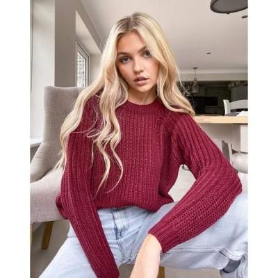 オンリー レディース ニット&セーター アウター Only sweater in chunky cable knit in red Red