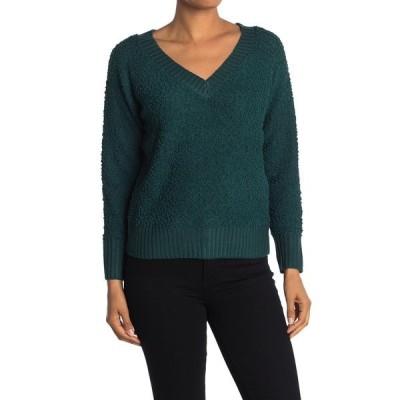 ラブバイデザイン レディース ニット&セーター アウター Snow Patrol V-Neck Sweater DARK SEA