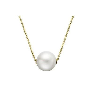 ジュエリー ファインジュエリー ネックレス パール 14k Yellow Gold White Freshwater Pearl Necklace (9-10 mm)