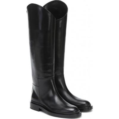ジル サンダー Jil Sander レディース ブーツ シューズ・靴 Leather knee-high boots Nero