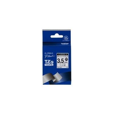 ブラザー P-Touch用・ノンラミネートテープ 白/ 黒文字 3.5mm TZe-N201 返品種別A