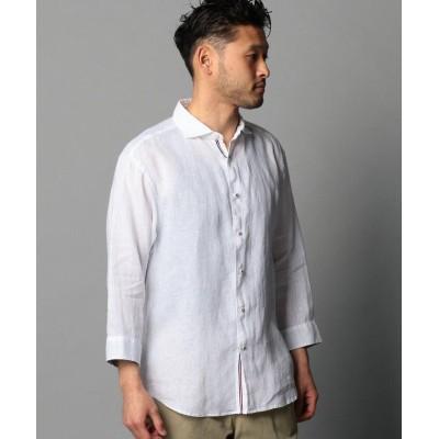 【フレディアンドグロスター】 リネンパラシュート七分袖シャツ メンズ ホワイト M FREDY&GLOSTER