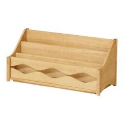 本棚 キッズ ブックラック L トット 木製 (  子供部屋 子供用 木製 絵本ラック ブックシェルフ 子供家具 子ども キャビネット ディスプレイラック 収納 )