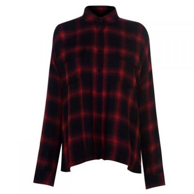 ケンダルアンドカイリー Kendall and Kylie レディース ブラウス・シャツ トップス shirt Red/Black
