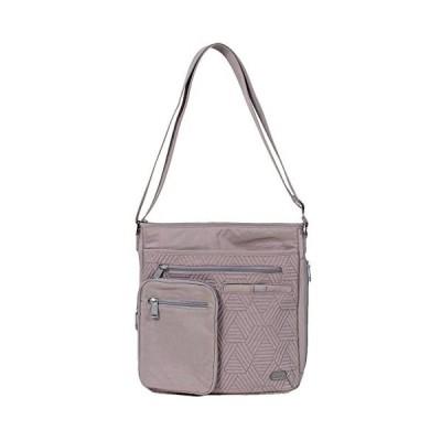Lug Women's Monorail Convertible RFID Crossbody Bag, Pearl Grey Shoulder, One Size 並行輸入品