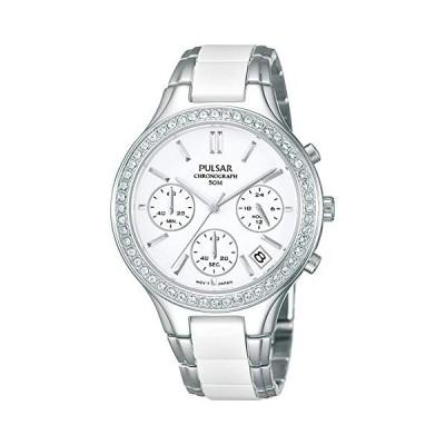 Ladies Pulsar Ceramic Chronograph Watch PT3305X1 並行輸入品
