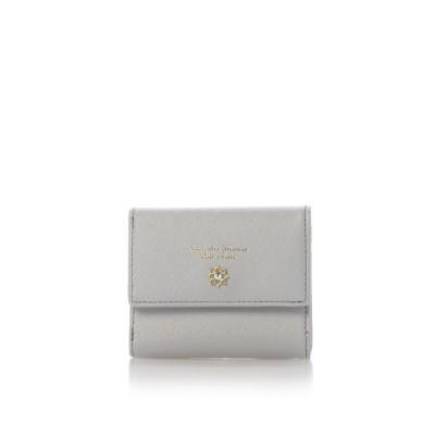 サマンサタバサプチチョイス フラワーモチーフシリーズ(折財布) グレー