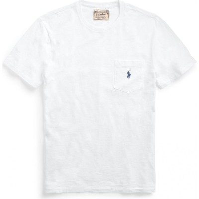 ラルフ ローレン POLO RALPH LAUREN メンズ Tシャツ ポケット トップス custom slim fit pocket t-shirt White