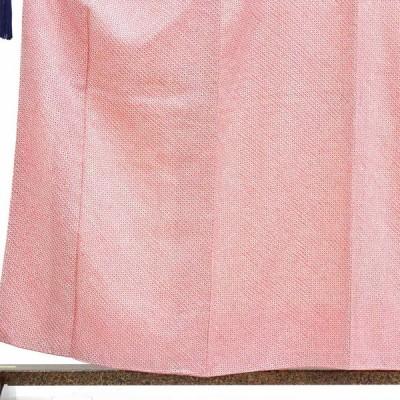 リサイクル着物 小紋 正絹ピンク地総絞り袷小紋着物