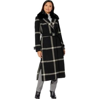 ヴィンス カムート Vince Camuto レディース コート マキシ丈 アウター Maxi Wool Coat V20767B Black/Grey 2