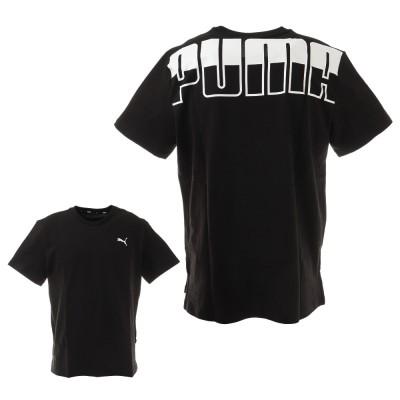 PUMAウェアビッグ ロゴ オーバーサイズ Tシャツ 588469 01 BLK 半袖ブラック