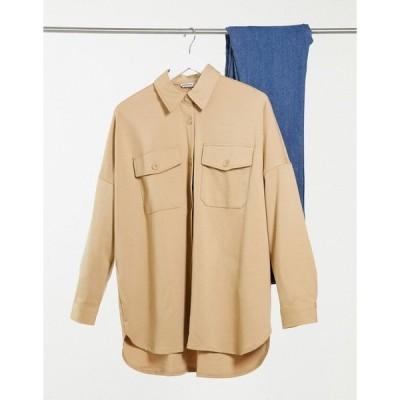 ストラディバリウス レディース シャツ トップス Stradivarius knit overshirt in light beige Beige