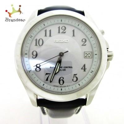 セイコー SEIKO 腕時計 美品 - 7B22-0AZ0 メンズ シルバー 新着 20210223